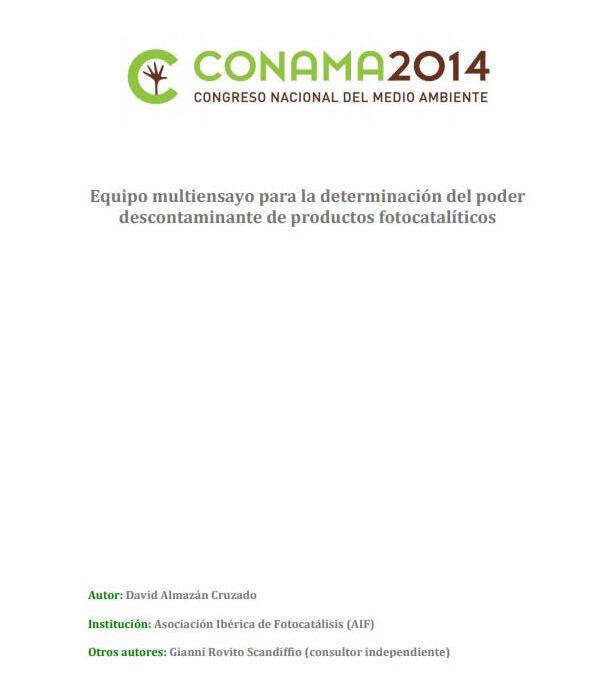 Equipo multiensayo para la determinación del poder descontaminante de productos fotocatalíticos