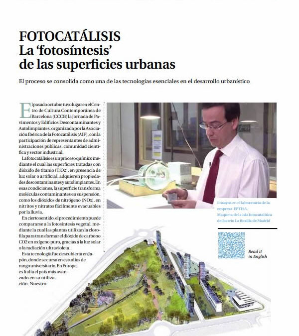 Fotocatálisis, La fotosíntesis de las superfícies urbanas