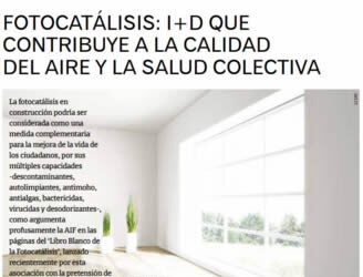 FOTOCATÁLISIS: I+D que contribuye a la calidad del aire y a la salud colectiva(Revista CIC)