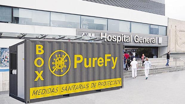 Box Purefy, reciclaje y sostenibilidad contra el coronavirus