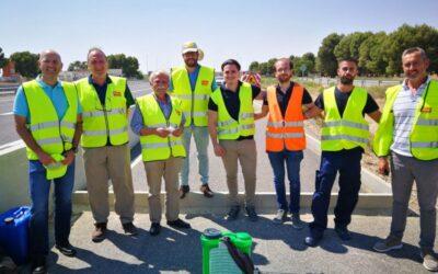 Aplicación a escala real de fotocatálisis sobre distintos activos de la infraestructura del transporte