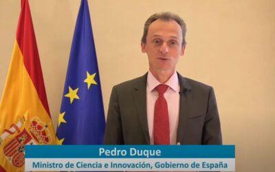 Pedro Duque asiste al webinario organizado por la Asociación Ibérica de de Fotocatálisis (AIF)