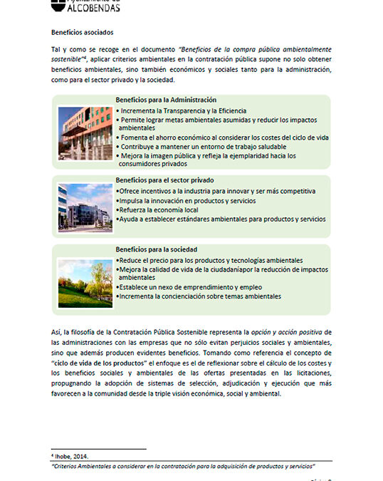 El Ayuntamiento de Alcobendas incluye los pavimentos fotocatalíticos en su Manual de Compra Verde,